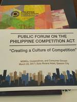 PUBLIC FORUM ON THE PHILIPPINE COMPETITION ACT